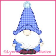 Winter Gnome Boy 2 Blanket Stitch Applique Machine Embroidery Design File 4x4 5x7 6x10