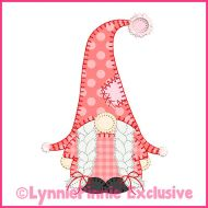 Winter Gnome Girl Blanket Stitch Applique Machine Embroidery Design File 4x4 5x7 6x10