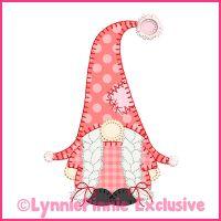 Winter Gnome Girl Blanket Stitch Applique Machine Embroidery Design File 4x4 5x7 6x10
