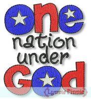 One Nation Under God -Filled 4x4 5x7