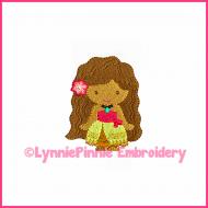Polynesian Princess Mini Embroidery Design 4x4