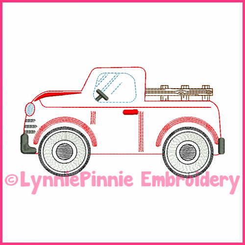 ColorWork Vintage Oldie Truck Embroidery Design 4x4 5x7 6x10 7x11