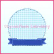 Triple Zig Zag Applique Circle Frame 1 Machine Embroidery Design File 4x4 5x7 6x10 7x11