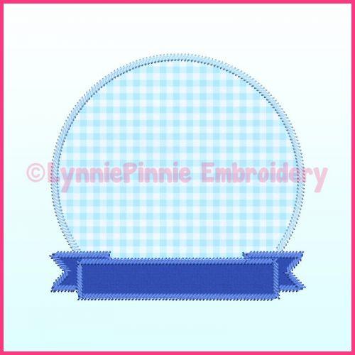 Triple Zig Zag Applique Circle Frame 1 Machine Embroidery Design File 4x4 5x7 6x10 7x11