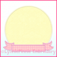 Triple Zig Zag Applique Circle Frame 2 Machine Embroidery Design File 4x4 5x7 6x10 7x11