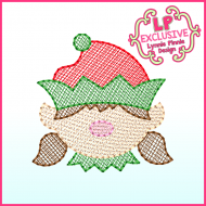 Sketchy Fill Elf Girl Machine Embroidery Design File 4x4 5x7