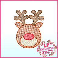 Sketchy Fill Reindeer Machine Embroidery Design File 4x4 5x7