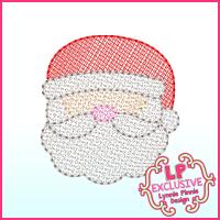 Sketchy Fill Santa Machine Embroidery Design File 4x4 5x7