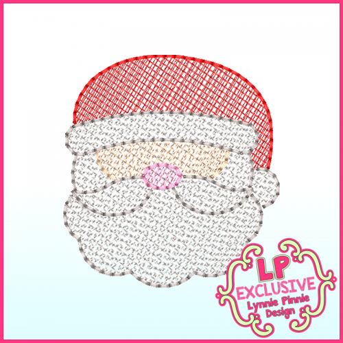 Sketchy Fill Santa Machine Embroidery Design File 4x4 5x7