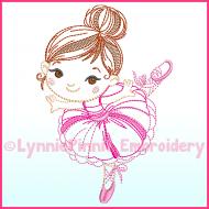 ColorWork Ballerina 1 Machine Embroidery Design File 4x4 5x7 6x10