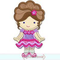 Pageant Girl Cutie Applique 4x4 5x7 6x10 SVG