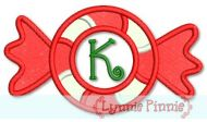 Peppermint Twist Applique Font 4x4 5x7