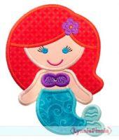 Princess 1 - Mermaid Applique 4x4 5x7 6x10 7x11 SVG