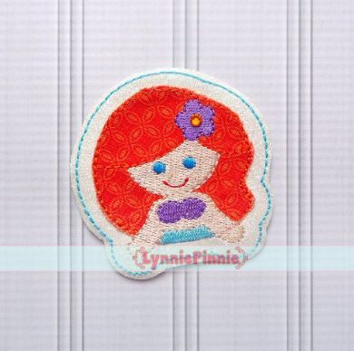 Princess 1 - Mermaid Felt Clippie Design 4x4