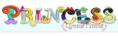 Princess Word Art Collage 4x4 5x7 6x10