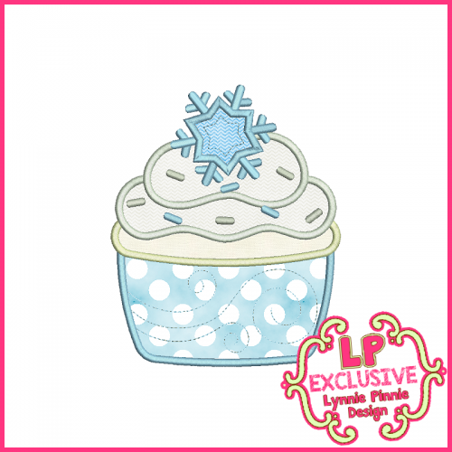Princess Cupcake 10 Applique Design 4x4 5x7 6x10