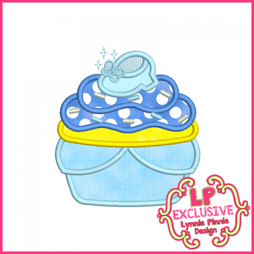 Princess Cupcake 4 Applique Design 4x4 5x7 6x10