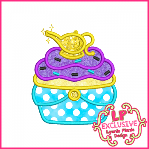 Princess Cupcake 8 Applique Design 4x4 5x7 6x10