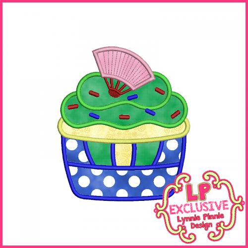 Princess Cupcake 9 Applique Design 4x4 5x7 6x10