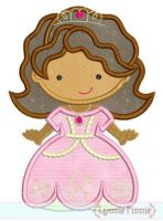 Little Sophie Princess Cutie Applique 4x4 5x7 6x10 SVG