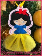 In the Hoop 3D Skirt Princess Christmas Ornament 4 4x4