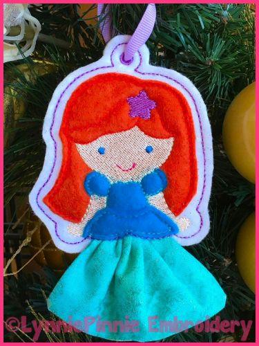 In the Hoop 3D Skirt Princess Christmas Ornament 5 4x4