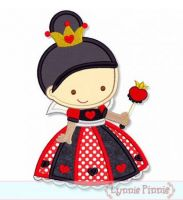 Cutie Princess as The Queen of Hearts Applique 4x4 5x7 6x10