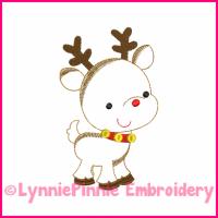 Reindeer Colorwork Sketch Embroidery Design 4x4 5x7 6x10