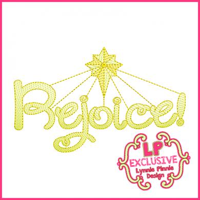 Rejoice Word with Star 4x4 5x7