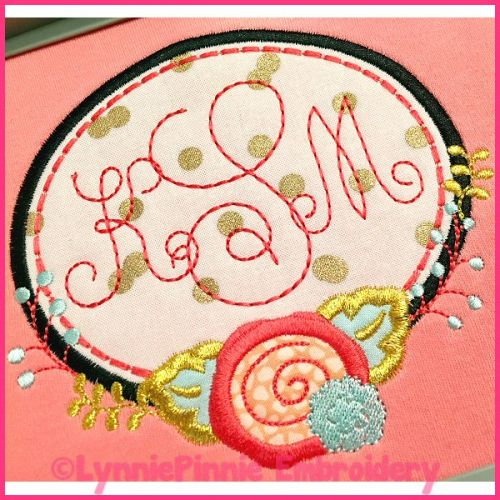 Quick Monogram Sketch Triple Run Embroidery Font -- 5 sizes + BX
