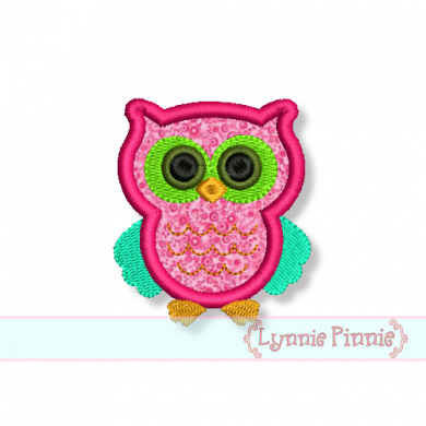 Small Owl Applique 4x4