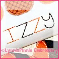 Basic Stitchy Font with Numbers and Punctuation DIGITAL Embroidery Machine File -- 4 sizes + BX