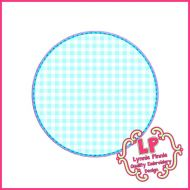 Stitchy Circle Frame Applique Machine Embroidery Design File 4x4 5x7 6x10