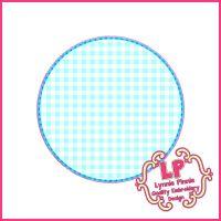 Stitchy Circle Frame Applique Machine Embroidery Design File 4x4 5x7 6x10