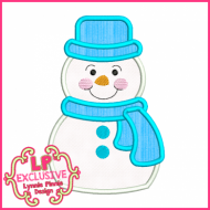Simple Snowman Applique + Mini 4x4 5x7 6x10 7x11 SVG