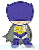 Superhero 2 - Caped Boy Applique 4x4 5x7 6x10 SVG