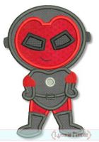 Superhero 4 - Robot Boy Applique 4x4 5x7 6x10 SVG