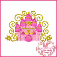 Swirly Castle Applique 4x4 5x7 6x10 7x11 SVG