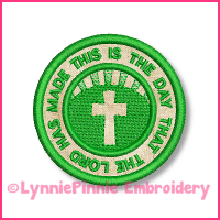 This is the Day Psalm 118:24 Circle Icon Applique Embroidery Design 4x4