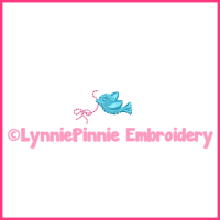 Tiny Bird with Bow Mini Embroidery Design 4x4