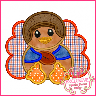 Vintage Football Baby Turkey Boy 4x4 5x7 6x10 SVG