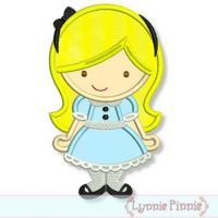 Cutie Princess as Alice in Wonderland Applique 4x4 5x7 6x10