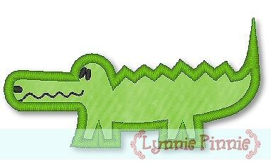 Alligator Applique Machine Embroidery Design File 4x4 5x7