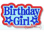 All American Birthday Girl Star Applique 2 4x4 5x7 6x10 SVG