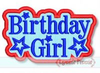 All American Birthday Girl Star Applique Embroidery Design 2 4x4 5x7 6x10 SVG