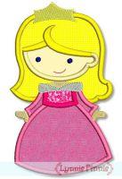 Cutie Princess as Sleepy Pink Beauty Applique 4x4 5x7 6x10