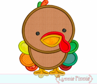 Baby Turkey Applique 4x4 5x7 6x10