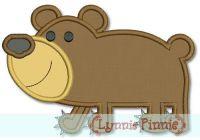 Baby Bear Cub Applique 4x4 5x7