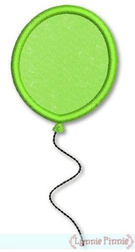 Balloon Applique 4x3 5x7 6x10