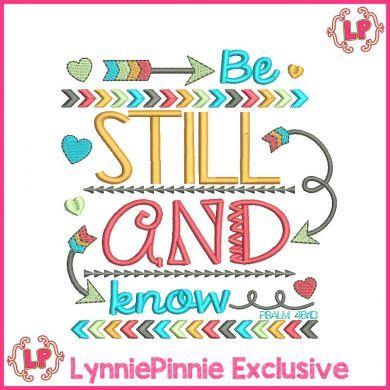 Be Still and Know PSALM 46:10 Tribal Arrows Word Art 4x4 5x7 6x10 7x11